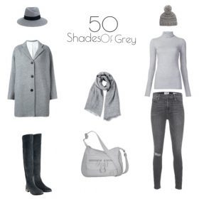 Herbsttrends: Outfits in 50 Shades of Grey