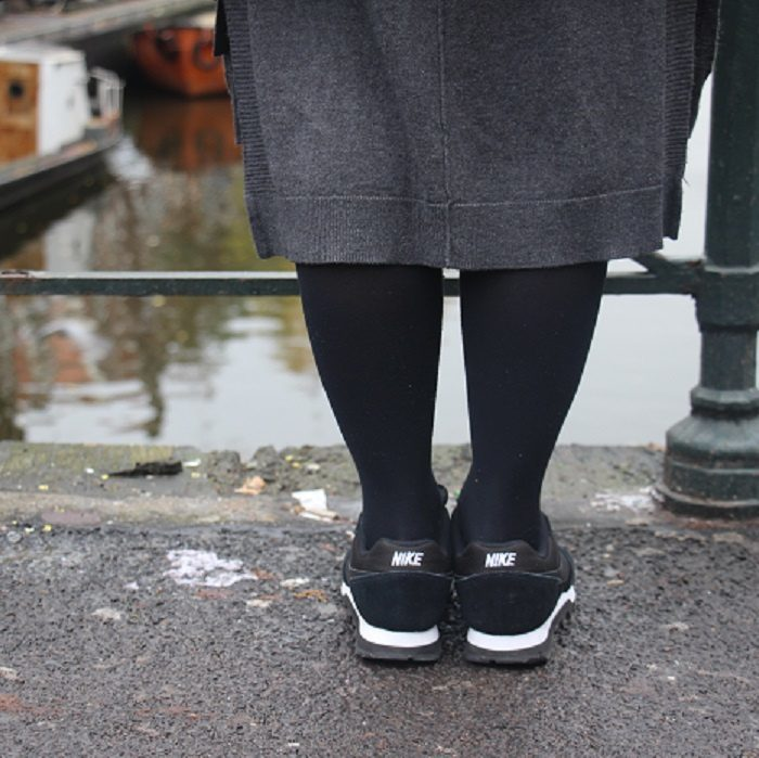 OOTD: Oversized Mantel, Sneakers & Wildleder