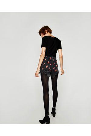 Zara JEANS-BERMUDASHORTS ROLLING STONES