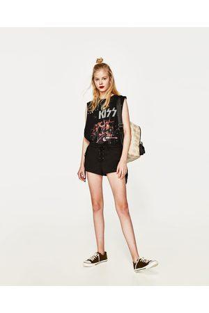 Zara SHORTS IN WILDLEDER-OPTIK MIT FRANSEN