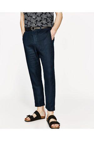 Zara CROPPED-LEINENHOSE - In weiteren Farben verfügbar