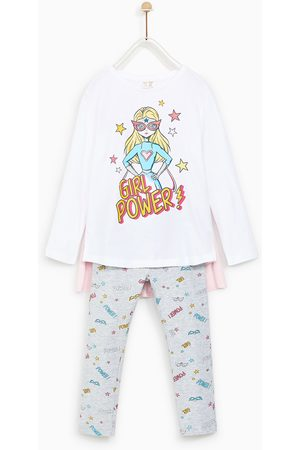 "Zara PYJAMA ""GIRL POWER"" IN CAPE-OPTIK"