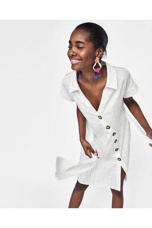 Zara TEXTURED WEAVE SHIRT DRESS