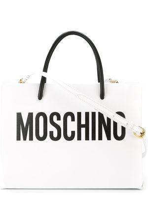 Moschino Square logo print tote