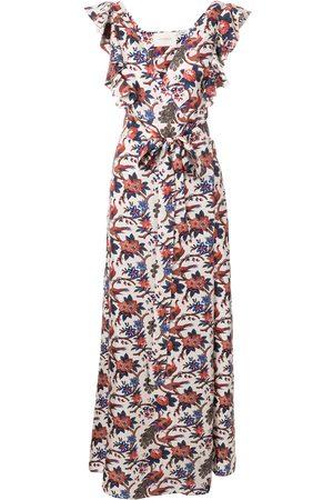 La DoubleJ Ruffle v-neck print dress