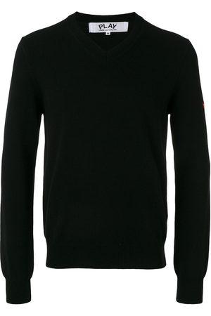 Comme des Garçons Embroidered heart patch sweatshirt