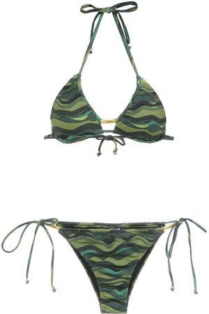 AMIR SLAMA Damen Bikinis - Wave print bikini set
