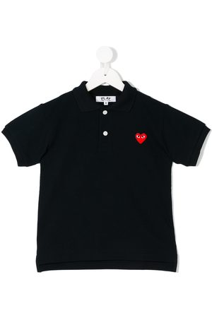 Comme des Garçons Embroidered heart polo