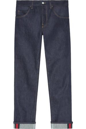Gucci Tapered denim pants with Web