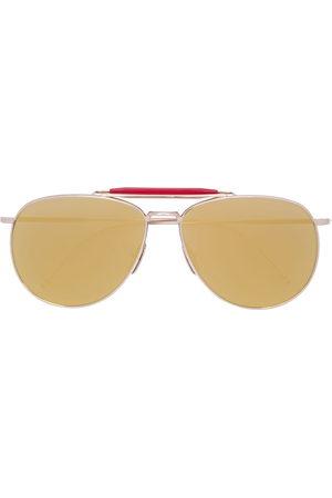 Thom Browne Sonnenbrillen - Aviator mirrored sunglasses