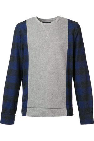 MOSTLY HEARD RARELY SEEN Plaid sleeves sweatshirt