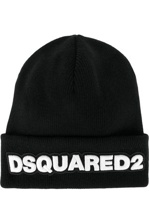 Dsquared2 Logo patch ribbed beanie