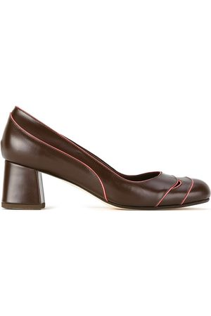 Sarah Chofakian Contrast piped pumps