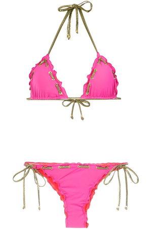 AMIR SLAMA Stitching details bikini set