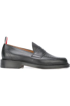 Thom Browne Penny Loafer With Leather Sole In Pebble Grain