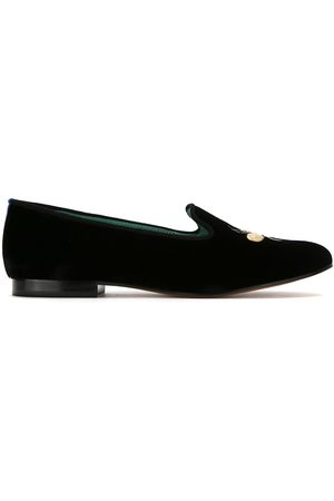 Blue Bird Shoes Embroidered velvet Bugs loafers