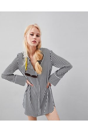 Zara STREIFENHEMD MIT PRINT
