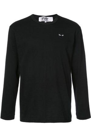 Comme des Garçons Herren Lange Ärmel - Long-sleeve heart logo T-shirt