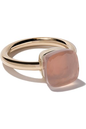 Pomellato 18kt rose & white gold Nudo rose quartz ring