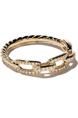 David Yurman Damen Armbänder - 18kt yellow gold Stax single row pavé diamond chain link ring