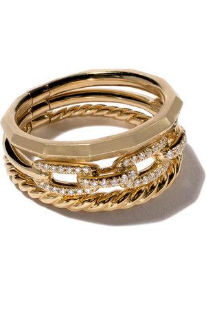 David Yurman Damen Armbänder - 18kt yellow gold Stax diamond narrow ring