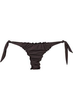 AMIR SLAMA Ruffled trim bikini bottom