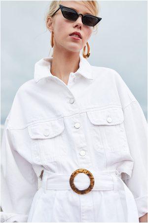 "Zara SHORT DENIM HI-RISE PAPER BAG ""AUTHENTIC"""