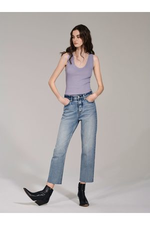 Zara JEANS HI-RISE STRAIGHT LEG