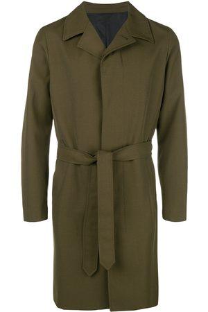Ami Waxed single breasted coat