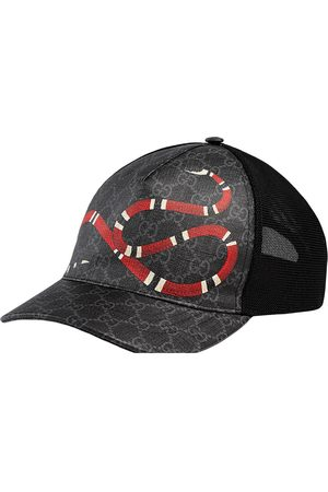 Gucci Herren Caps - Kingsnake print GG Supreme baseball cap