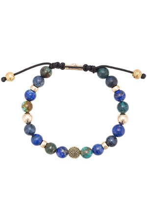 Nialaya Blue Lapis, Blue Dumortierite and Bali Turquoise beaded bracelet