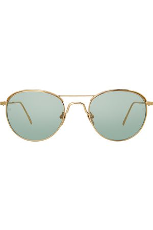 Linda Farrow 623 C6 oval sunglasses