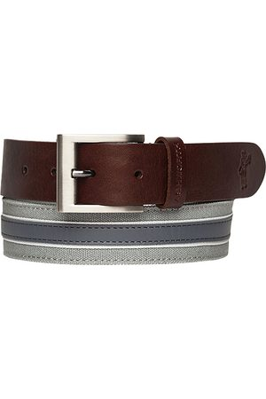 Ashworth Leather Cotton Belt medium grey Z99398
