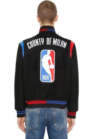 """MARCELO BURLON COUNTY OF MILAN BOMBERJACKE AUS WOLLSTOFF """"NBA"""""""