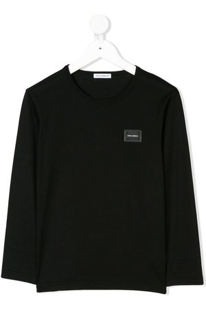 Dolce & Gabbana Jungen Lange Ärmel - Logo plaque long sleeve top