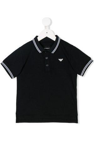 Armani Striped trim polo shirt