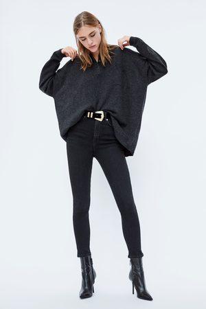 Zara HIGH-WAIST-JEANS ZW PREMIUM 80'S IN BLACK