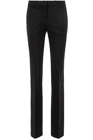 HUGO BOSS Regular-Fit Hose aus italienischer Stretch-Schurwolle