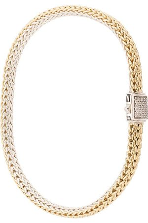 John Hardy 18kt yellow and sterling silver reversible Classic Chain diamond bracelet