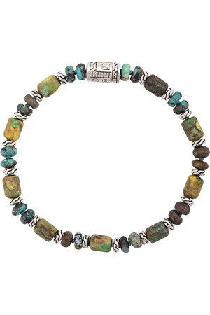 John Hardy Herren Armbänder - Silver Classic Chain Mixed Turquoise Bead Bracelet