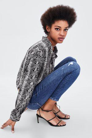 Zara Damen Leggings & Treggings - JEGGING HI-RISE VINTAGE RISSE