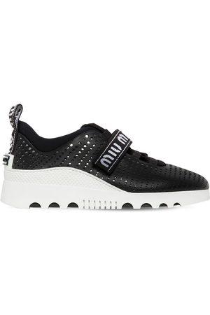 Miu Miu 30mm Perforierte Ledersneakers