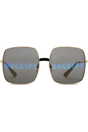 Gucci Damen Sonnenbrillen - Rectangular-frame sunglasses