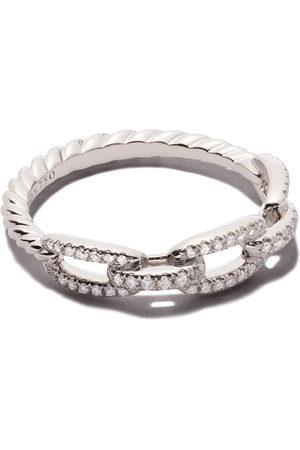 David Yurman Damen Armbänder - 18kt white gold Stax single row pavé diamond chain link ring