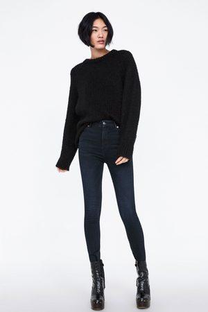 Zara JEANS ZW PREMIUM HIGH WAIST SKINNY BLUE BLACK