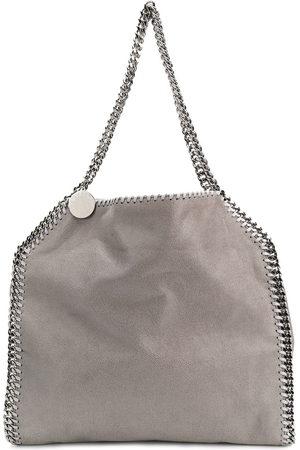 Stella McCartney Light Falabella faux leather silver chain tote