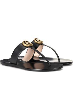 Gucci Sandalen Double G aus Leder