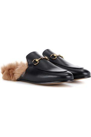 Gucci Slippers Princetown aus Leder