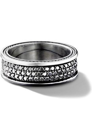 David Yurman Streamline three row pavé diamond band