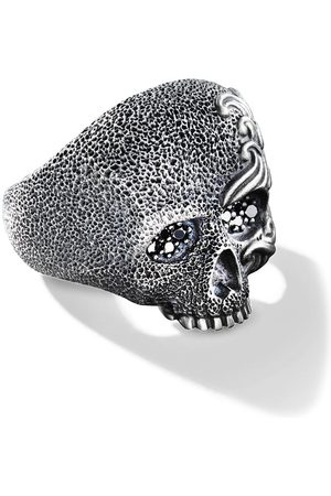 David Yurman Waves diamond skull ring
